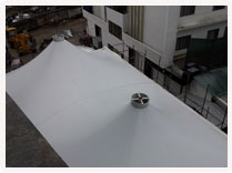 Tensile Fabric Roof at Tulip Star Hotel, Lucknow