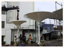 Tensile Fabric Structure Installation at Tulip Star Hotel, Lucknow